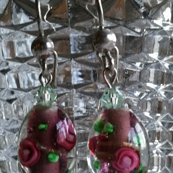 Murano bead earrings?  - Costume Jewelry