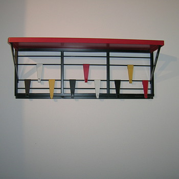 "Pilastro 1950s coat rack "" Toonladder "" - Furniture"
