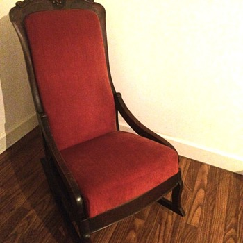 1880's ? Lincoln Rocker? Definetly made of Walnut - Furniture