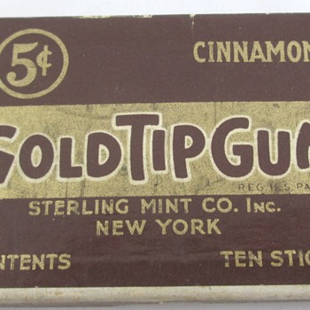 Gold Tip Cigarette Gum - Advertising