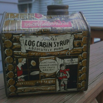 Another Towles's Log cabin Syrup Tin