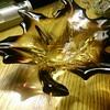 Maple leaf glass dish