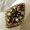 Garnet and Opal 14k Gold Ring