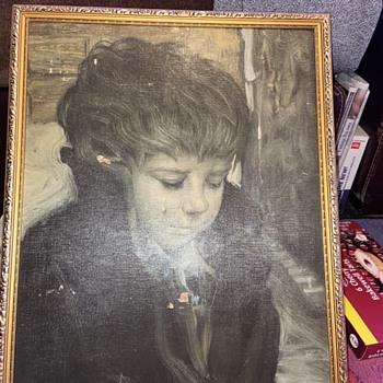 Crying boy ? - Fine Art
