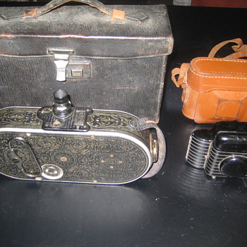 2 Old Cameras Bell & Howell and Kodak Bantam