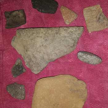 Native american  stone weapons  from the woodland era  - Native American