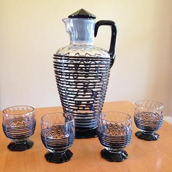 Glass Lemonade set - Art Glass