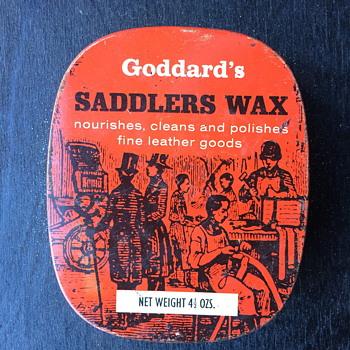 Goddard's saddlers was tin and a few other polish tins.