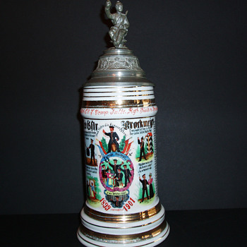 Imperial German Reservist's stein of Gefreiter Brorkmeyer, 3rd Westfalian Infantry