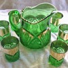 Heisey (1255) Pineapple and Fan Water Set