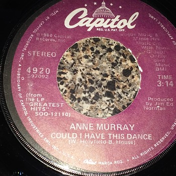 The Ladies...#2...Anne Murray...On 45 RPM Vinyl - Records