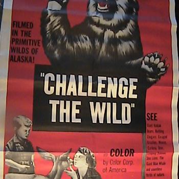 """Vintage Movie Poster """"Challenge The Wild"""" Wild Alaska - Movies"""