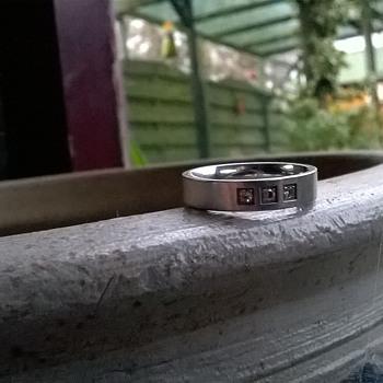 "Steel Jewel Signed Stainless Steel & Crystal Ring - Who's ""Steel Jewel""?? - Fine Jewelry"