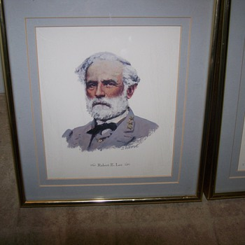 Drawings Of Robert E.Lee & NathanB.Forrest by Don Stivers