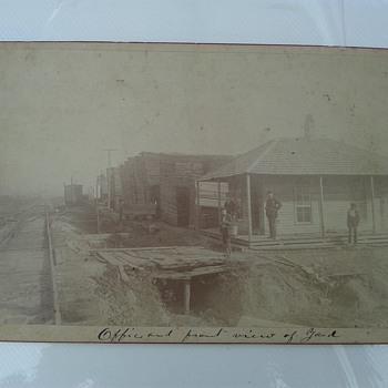 Cabinet Card Railroad Yard Huntsville Alabama