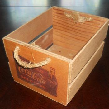 wooden box - Coca-Cola