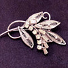 Early Sherman Brooch Later 1940's, Silver