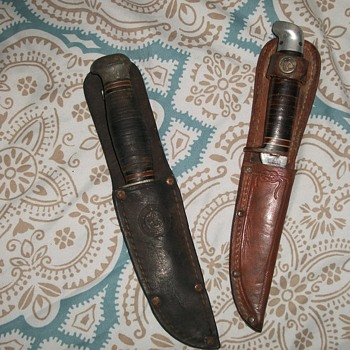 vintage remington and western boy scout knives - Sporting Goods
