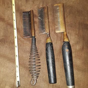 """three old """"African-American hair"""" straightening irons - Accessories"""