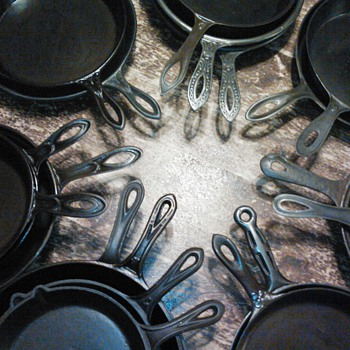 Early Cast Iron Skillets Pre 1880 - Kitchen