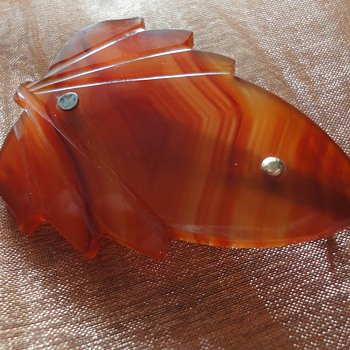 ART DECO Agate brooch - Fine Jewelry