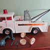 1960s Big Bruiser Super Highway Service Wrecker Tow Truck by Marx Toys