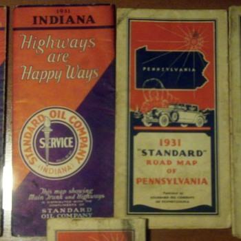 Vintage Standard Oil Road Maps  - Petroliana