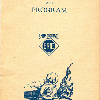 Erie Railroad Passenger Dept New York City Visit Itinerary - Railroadiana
