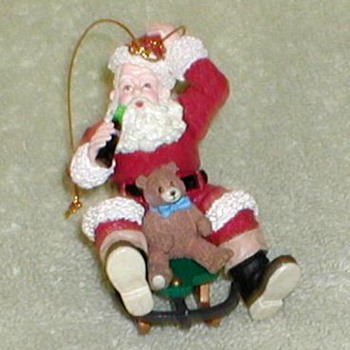 Coca Cola Santa Claus Ornament - Christmas