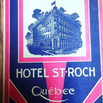 Hotel St-Roch pamphlet. - Advertising