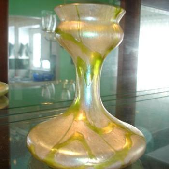 Kralik Pampas Style Vase - Art Glass