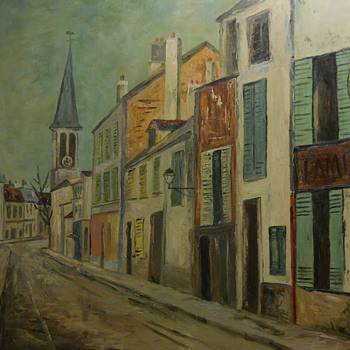 In the manner of Maurice Utrillo 1883-1955 painting on board - Fine Art