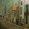 In the manner of Maurice Utrillo 1883-1955 painting on board