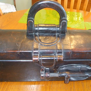 Old & Unusual Domed Storage/Travelling Case in Leather- Old or New - Bags