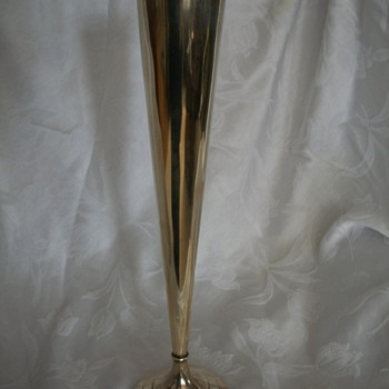 My sterling Black Starr and Frost 16 in trumpet vase! - Silver