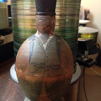 Early wooden male figure nesting doll? - Dolls