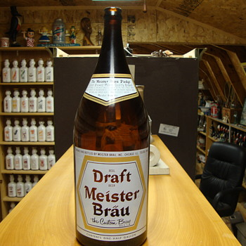 1/2 Gallon Draft Meister Brau Beer Bottle........