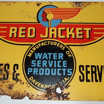 Red Jacket Advertising Sign. - Signs