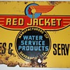 Red Jacket Advertising Sign.