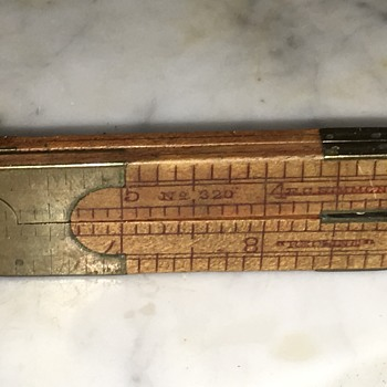 "E.C. Simmons Redline #320 Wood & Brass 12"" Folding Ruler - Tools and Hardware"