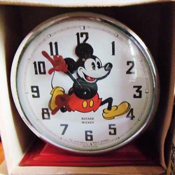 "1938 Bayard ""Nodder"" Mickey Mouse Alarm Clock"