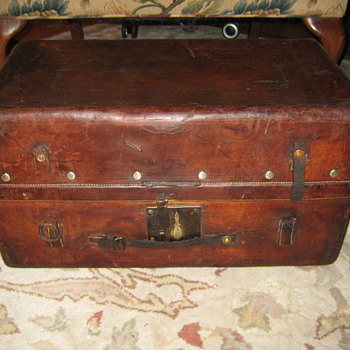 Leather Stagecoach Trunk - Furniture