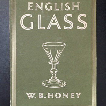 English glass W.B. Honey.