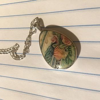 Sterling Silver Scrimshaw Pendant - Bonnie Shulte?  - Fine Jewelry