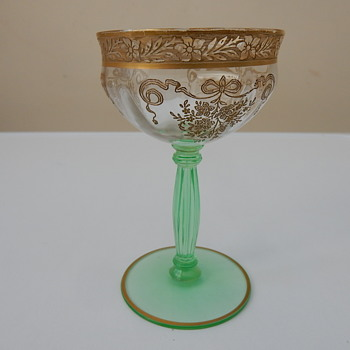 Tiffin Melrose Gold Glass - Glassware