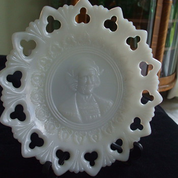 1492-1892 CHRISTOPHER COLUMBUS COMMEMORATIVE PLATE - Glassware