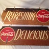1940's Coca-Cola Wood Sign