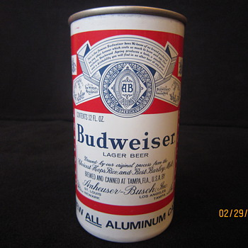 1963 Hamm's Dog Bone Zip Top Air Filled New All Aluminum Brewed & Canned by Anheuser Busch of St. Louis MO at Tampa FL Beer Can - Breweriana