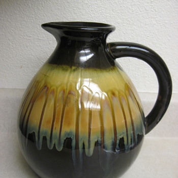 Gorgeous Textured Drip Glaze Signed By Mystery Artist - Pottery