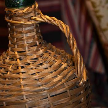 1957 Lizomar Spanish Chablis Wine Bottle Demijohn with Old Label - Bottles